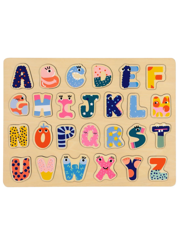 houten inlegpuzzel Ootje - letters