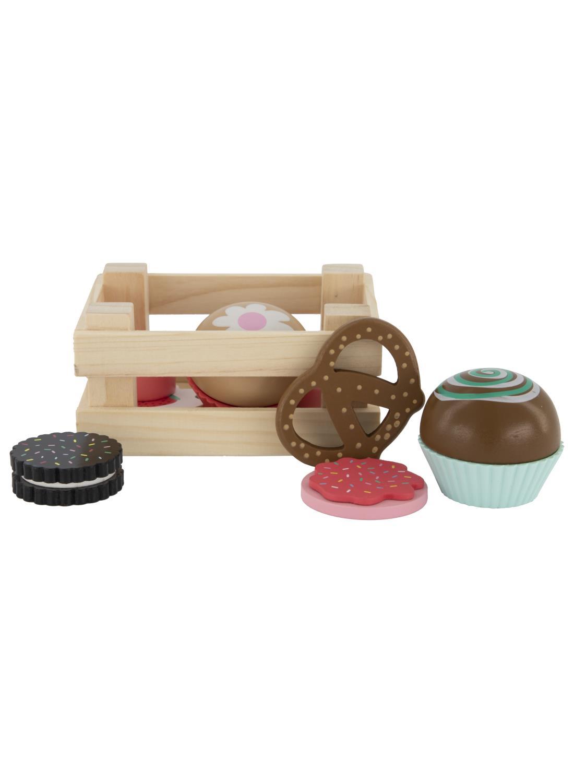 houten koekjes en cake set
