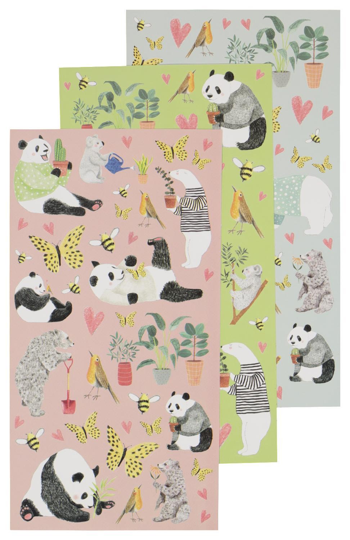 stickers panda 3 vel 19x10