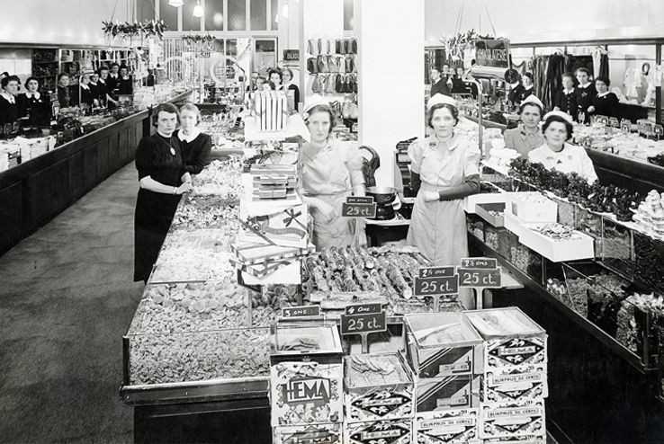 eerste HEMA winkel Amsterdam 1926