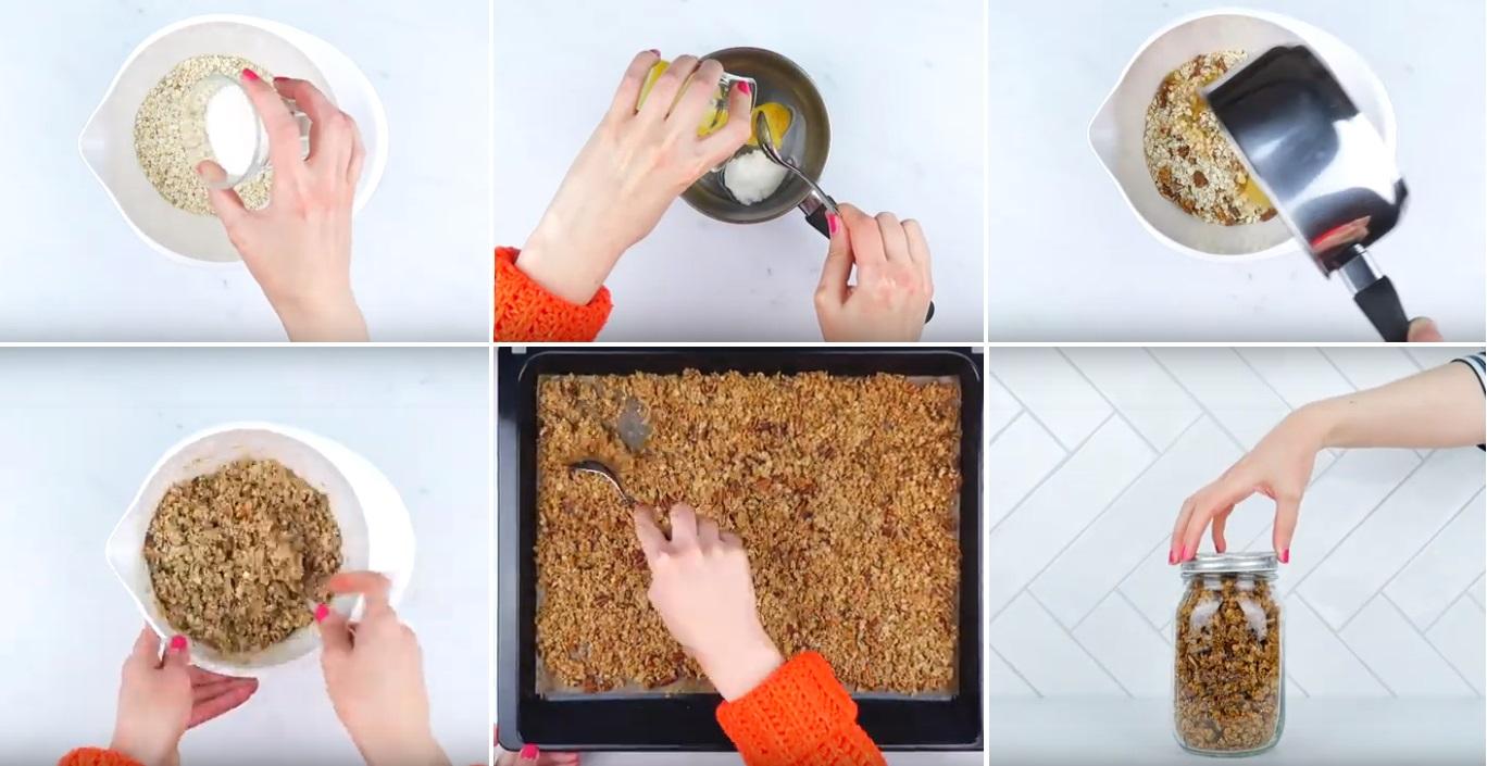 stappen granola maken HEMA