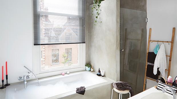 Verduisterend Rolgordijn Badkamer : Gordijnen voor de badkamer hema