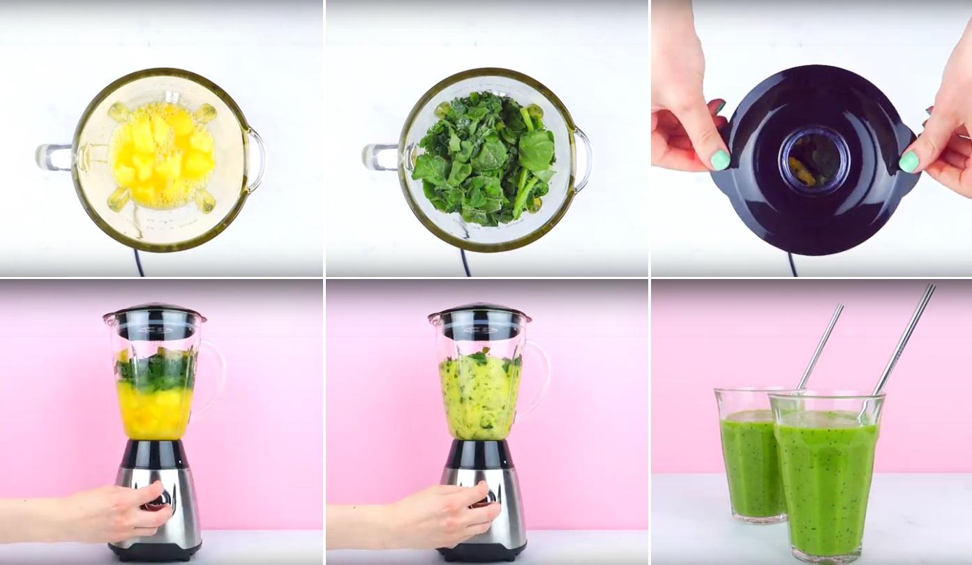 stappen zelf smoothies maken HEMA
